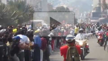 Marathon de Tana 2012 : arrivée de David Kiprono Langat, Vainqueur en 2h26'